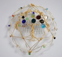 Etz Chaim, Tree of Life, Twelve Tribes Wire Kippah