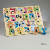 Alef Bet Wood Puzzle