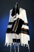 Black, Copper and Silver Tallit Set