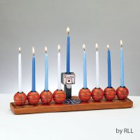 Basketball Menorah