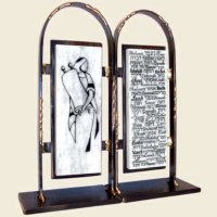Tablets Bat Mitzvah Bookends, by Gary Rosenthal