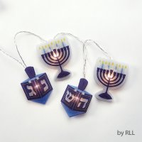 Battery Operated Chanukah Hologram Light Set