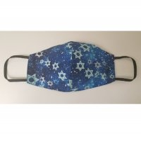 Blue and Silver Stars Double Layered Face Mask