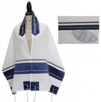 Blue with Blue Ribbon Tallit Set