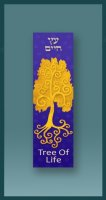 Gold Tree of Life Car Mezuzah by Mickie Caspi