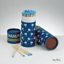 Chanukah Long Matches in Gift Box-Blue