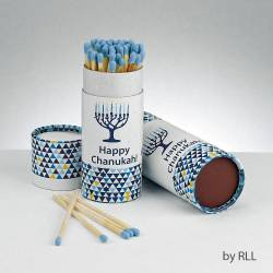 Chanukah Long Matches in Gift Box-White