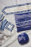 Classic Blue and Navy Full Size Tallit Set