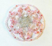 Cotton Candy Beaded Wire Kippah