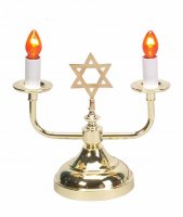 Electric Brass Shabbat Candelabra
