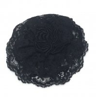 Ladies Black Lace Kippah