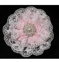 Ladies Pink Lace Kippah