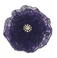Ladies Royal Purple Lace Kippah