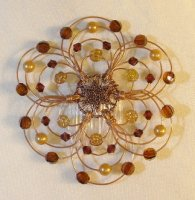 Eye of the Tiger Light Beaded WIre Kippah