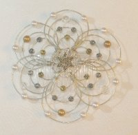 Fire and Ice Light Beaded Wire Kippah