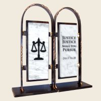 Lawyer Bookends, by Gary Rosenthal