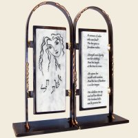 Woman of Valor Bookends, by Gary Rosenthal