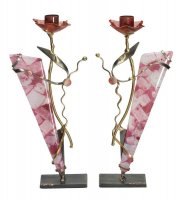 Breast Cancer Awareness Candlesticks, by Gary Rosenthal