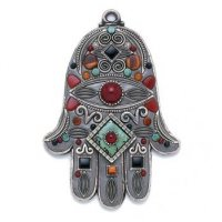 African Turquoise Wall Hamsa, by Michal Golan