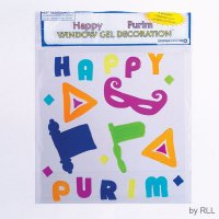 Happy Purim Window Gel Decorations
