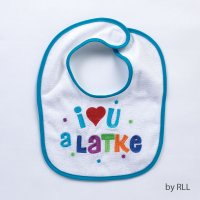 I Love You A Latke Chanukah Bib