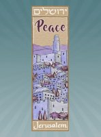 Jerusalem Peace Car Mezuzah, by Mickie Caspi