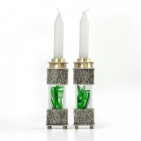 Victorian Square Wedding Shard Candlesticks, by Joy Stember