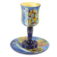 Chagall Wedding Kiddush Cup, by Yair Emanuel