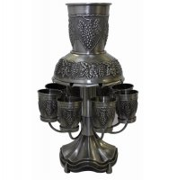 Grape Fountain Set Pewter, 8 Cup
