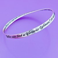 Woman of Valor Bangle Bracelet,by DVB- Laurel Elliot