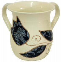 Blue Applique Wash Cup, by Lily Art