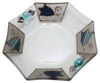 "Blue Tulip 7"" Serving Dish, by Lily Art"