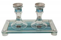Ocean Blue Candlesticks, by Lily Art