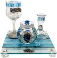 Ocean Blue Havdalah Set, by Lily Art