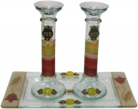 Red Tulip Pomegranate Candlesticks, by Lily Art