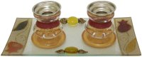 Rainbow Pomegranate Candlesticks-Small, by Lily Art