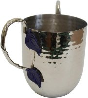 Blue Leaf Stainless Steel Wash Cup