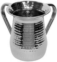 Hammered Stainless Steel Wash Cup