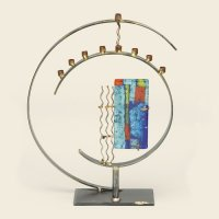 Art Deco Menorah by Gary Rosenthal