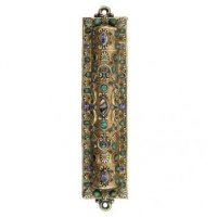 Abalone, African Turquoise Mezuzah, by Michal Golan