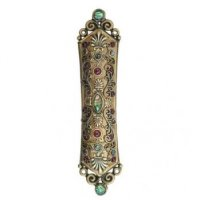 Abalone and Garnet Mezuzah, by Michal Golan