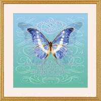 Butterfly Bat Mitzvah Framed Art, by Mickie Caspi