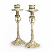 Miriam Candlesticks-Golden, by Quest