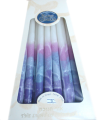 Safed Chanukah Candles White, Pink, Lavender