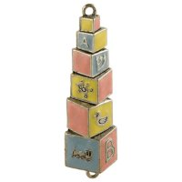 Baby Blocks Mezuzah, by Quest