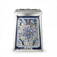Blue Star of David Tzedakah Box, by Quest