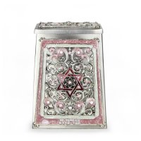 Pink Star of David Tzedakah Box, by Quest