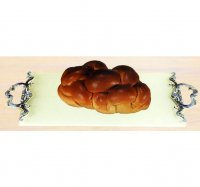 Blue-Silver Collection Challah tray by Quest