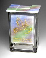 Dove Rainbow Tzedakah Box, by Sara Beames