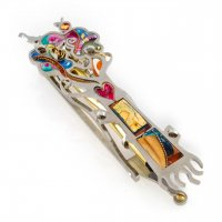 Beautiful Heart Tree of Life Mezuzah, by Seeka